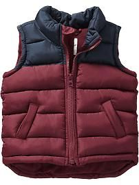 Color-Block Frost Free Vest for Baby Boy