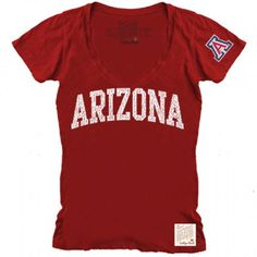 Arizona Wildcats Women's Short Sleeve V-Neck Tee