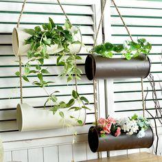 Metal hanging plant pot flower basket iron w jute hanger handmade wall mounted in Home & Garden, Yard, Garden & Outdoor Living, Gardening Supplies | eBay!