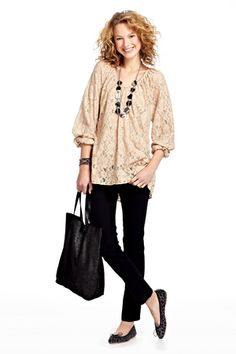Tabitha Lace Woven Tunic :: VIEW ALL :: SHIRTS & TOPS :: CLOTHING :: Calypso St. Barth