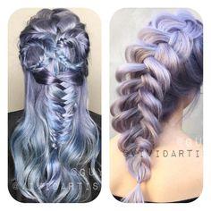 @vividartistichairdesign's braid game is on point!   #Braid #MetallicObsession #Kenra