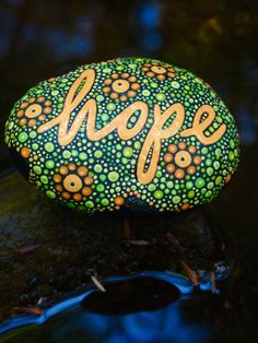 Hope Stone / Written on Stone Series / Inspirational by mitsel8