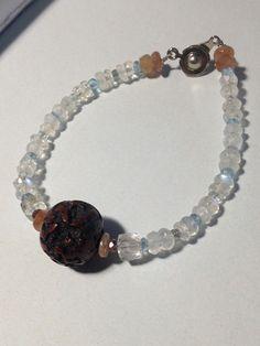 Sunstone, apatite, aquamarine, Golden Ruchirukuotsu, sapphire, grandmother of keepsake linden rosary. 4th work