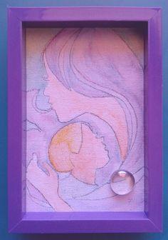 002 Acquerello su cartoncino intelato; decorato con sassolino di vetro; cm 15 x 10 senza cornice; cm 15,7 x 10,7 con cornice https://www.ebay.it/usr/camerapicta