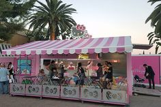 Inside America's Very First Hello Kitty Café, Opening Today in SoCal - Racked LA Irvine Spectrum, Kitty Cafe, Canopy, Hello Kitty, Toddler Bed, America, Outdoor Decor, Dan, Kawaii