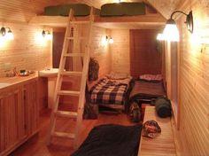 Small cabin interior... dream-board