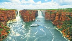 """Australian Traveller Magazine has announced their annual Greatest Holidays of Australia"""" list. Here we share the top 10 to help you get inspired for your next trip! Cruise the Kimberley Coast in Western Australia As Roma, King George, Tasmania, Places To Travel, Places To Visit, Travel Pics, Australia Tourism, Cruise Holidays, Twin Falls"""