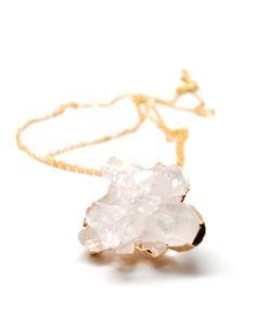 Quartz Cluster Gemstone Mineral Necklace | LEIF on Wanelo