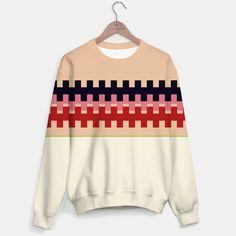 Girls artistic Sweater : Nomadic RED BEIGE