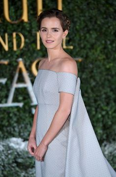 """Emma Watson looks like a """"Star Wars"""" character in the dress she wore to the """"Beauty and the Beast"""" premiere"""