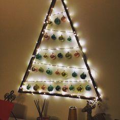 Alternate Christmas tree, kitten proof so far. Cat proof Christmas tree
