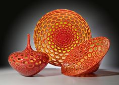Sam Stang makes bold & intricate pieces using traditional European glassblowing techniques.