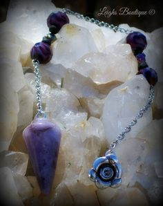 Amethyst Balance & Power Pendulum by leighswiccanboutique on Etsy