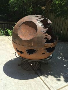 Death Star Fire Pit.   Because... DEATH STAR FIRE PIT!