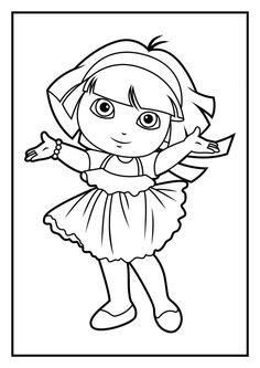 Dora Games Coloring Pages. Dora coloring page and perfect color in coloring page. Coloring Pages Dora. Get creative and color these Dora the Explorer coloring pages for kids. Dora Coloring, Easter Coloring Pages, Pokemon Coloring, Coloring Pages For Girls, Christmas Coloring Pages, Coloring Pages To Print, Coloring Book Pages, Coloring For Kids, Printable Coloring Pages