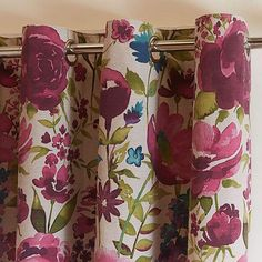 Misty Meadow Collection Lined Eyelet Curtains Curtains Dunelm, Flower Curtain, Floral Curtains, Colour Schemes, New Room, Home Furnishings, New Baby Products, Floral Prints, Bedroom Decor