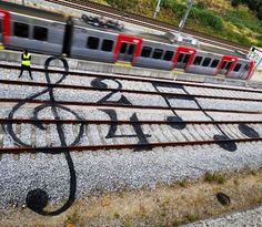 Street Art em trilhos e estradas de ferro