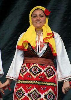 Traditional folk dress in Macedonia. (V)