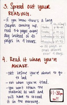 A few great ideas for students when tackling bigger than average reading assignments. There's also good advice for the timing of the reading adventure! :)