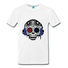 Sound Skull  Frenchcore - Premium T-shirt für Männer - Männer Premium T-Shirt Shops, Mens Tops, Fashion, Fashion Styles, Moda, Tents, Fashion Illustrations, Retail Stores