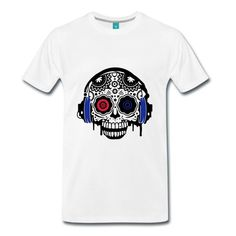 Sound Skull  Frenchcore - Premium T-shirt für Männer - Männer Premium T-Shirt