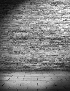 Gray floor Texture - Gray Brick Wall Texture With Stone Floor Photography Backdrop Black Brick Wall, White Brick Walls, Grey Brick, Brick And Stone, Grey Flooring, Stone Flooring, Pink Bedroom Walls, Main Entrance Door Design, Black Background Wallpaper
