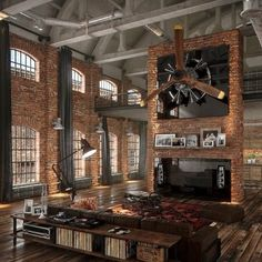 Bricks and Propellers, wood and leather
