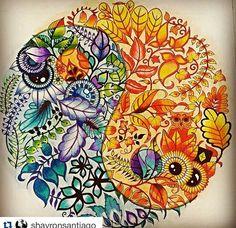 Mandala, Jardín secreto. Johanna Basford.
