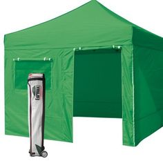 Amazon.com 10u0027 x 10u0027 Kelly Green Ez Pop Up canopy Tent Commercial E-Z UP Instant shelter + 4 zippered sides and deluxe roller bag and Awning Patiu2026  sc 1 st  Pinterest & Amazon.com: 10u0027 x 10u0027 Kelly Green Ez Pop Up canopy Tent Commercial ...