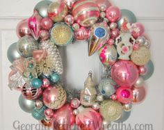 PLEASE NOTE: I DO NOT SHIP TO ALASKA OR HAWAII or International. My wreaths are made entirely by myself. It typically takes me about 3 hours to complete one wreath and they contain approx. 80-100 ornaments. I have been making and selling my wreaths online since 2008. GeorgiaPeachez Wreaths have been featured on the cover of Romantic Homes magazine and included in many other publications over the years. Each and every one of my wreaths are one of a kind. I make them as frequently as I can…