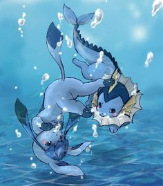 Glaceon and Vaporeon. I always chose Vaporeon when evolving my Eevee. :)