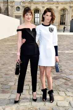 The best looks from the front rows at Milan Fashion Week: Dakota Johnson and Hanneli Mustaparta