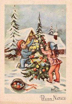 Cartoline Di Natale Vintage Da Stampare.1458 Fantastiche Immagini Su Cartoline Di Natale Cartoline