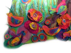 """Elizabeth Armstrong studiofelter. """"Fifty One Feathered Friends"""". http://www.elizabeth-armstrong.blogspot.com/"""