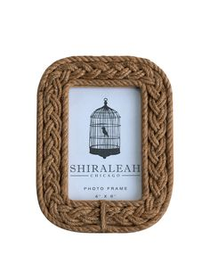Braided Rope Picture Frame  (4x6) from Woodland Tree on Gilt