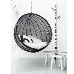 Fauteuil suspendu design noir Cocoon ATYLIA