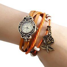 Frauen stieg Anhänger Lederband Quarz-Armbanduhr (farblich sortiert) – EUR € 7.35