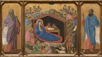 Duccio di Buoninsegna,c.1255-1318,The Nativity with the Prophets Isaiah and Ezekiel, Andrew W.Mellon Collection,Washington National Gallery of Art.