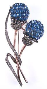 Pennino sterling silver brooch