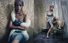 Ondria Hardin by Paolo Roversi for Vogue Italia September 2013 | The Fashionography