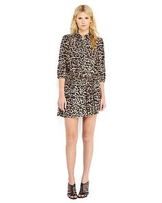 JUICY COUTURE Leopard Print Shirtdress