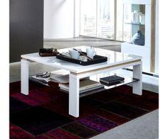 Coffee Table White High Gloss / Sonoman Light Oak Woody MDF Modern Order now at: moebel.ladendirek … room rnrnSource by ladendirekt