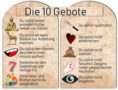 Die 10 Gebote Katholisch