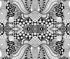 Lotus in repose fabric by vo_aka_virginiao on Spoonflower - custom fabric
