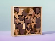 Areaware Alphabet Blocks A meditation in wood of our twenty six-letter alphabet…