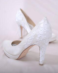doily-ish wedding shoes