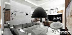 aranżacja salonu z kuchnią - zdjęcie od ARTDESIGN architektura wnętrz - Salon - Styl Nowoczesny - ARTDESIGN architektura wnętrz