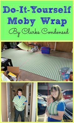 DIY Moby Wrap -- SO easy and way cheaper than buying one. And your baby will love it. #ClarksCondensed