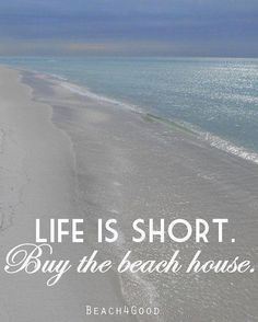 Beach Art Photograph Print Life is Short Buy the Beach House Quote Art Beach House Decor Ocean photograph Seaside decor ModernBeach Beach Condo, Beach House Decor, Lac Champlain, Theoule Sur Mer, Image Citation, Playa Beach, Dream Beach Houses, I Love The Beach, Beautiful Beach