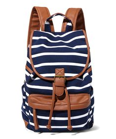 Look at this Madden Girl Navy & White Stripe Bbenji Backpack on #zulily today!